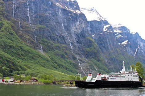 The ferry that goes from Flåm to Gudvangen.