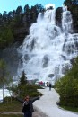 The cab driver pulled over to let us take photos of Tvindefossen falls, famous for restoring sexual potency (which is why it's visited by more the 250,000 Americans, Japanese, and Russians, who bottle the water as an alternative to Viagra.)