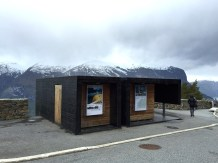 """The award-winning bathrooms at Stegastein, which offer """"ringside seats"""" of the fabulous view over the valley."""
