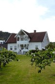 A picturesque house in the orchard.