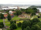 The view of Akershus fortress (1250 A.D.) from the top of the tower can't be beat.