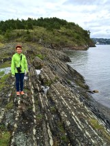 More really cool geology at Gressholmen. I'm standing on upturned layers of limestone and mudstone, meaning alternating deposits from saltwater and freshwater.