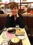 Cake and coffee at Aida's.