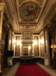 The Royal Waiting Room is where the king hung out before the show and during intermission. You can rent it today for around $20,000.