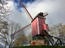The Koeleweimolen (Koelewei Mill) still operates as a grain mill, so that you can see how the whole system functions. (We were too early in the season to watch it work.)