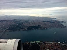 A transcontinental city, Istanbul straddles the Bosphorus, forming the geographical and cultural connection between East (Asia Minor) and West (Europe.)