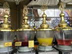 The Ottoman's invented sherbet -- but not the ice-creamy kind I'm used to from the South. Their sherbet is more of a liquid made of fruit juices and flower nectars, mixed together with sugar and sometimes poured over shaved ice.
