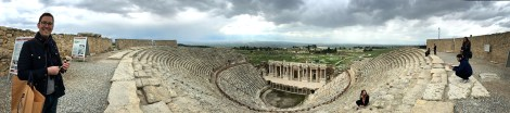 Hieropolis possesses Turkey's most well-preserved ancient Roman theater, which ranks third worldwide. Originally it would have seated around 15,000 people -- a little small for a city of 100,000.