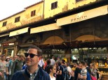 """Originally a meat market, the Ponte Vecchio was converted into a kind of """"jewelers' row"""" during the Medici era. You can see it's still a popular spot for shoppers today."""