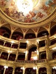 Technically, architect Miklós Ybl kept his promise to Emperor Franz Josef that Budapest's Opera House would be smaller than Vienna's (it seats only 1,261 as opposed to 1,560). However, the Hungarian building's interior outshines Austria's in lavish ornamentation -- a fact that didn't escape the irritated Emperor's notice. The giant chandelier weighs two tons and gets lowered once a year to have its 220 lightbulbs changed. It originally boasted 500 gas jets and hung 18 feet lower to prevent the flames from scorching the painted ceiling.