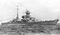 Seen here during her sea trials (test run), the Blücher was the second of Nazi Germany's five Admiral Hipper-class heavy cruisers. For her inaugural mission, she lead the invasion of Norway on April 8, 1940, accompanied by the heavy cruiser Lützow, the light cruiser Emden, and several smaller escorts. Wrap your head around this: A brand new German ship with a huge crew of trained men got taken out by 40-year-old weapons manned mostly by raw recruits.