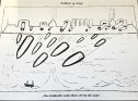 """This cartoon shows """"Germany vs. Norway"""" with the caption """"weapons of war returned without loss or damage,"""" alluding to the ridiculous measures taken by Germany to invade a virtually defenseless Norway."""
