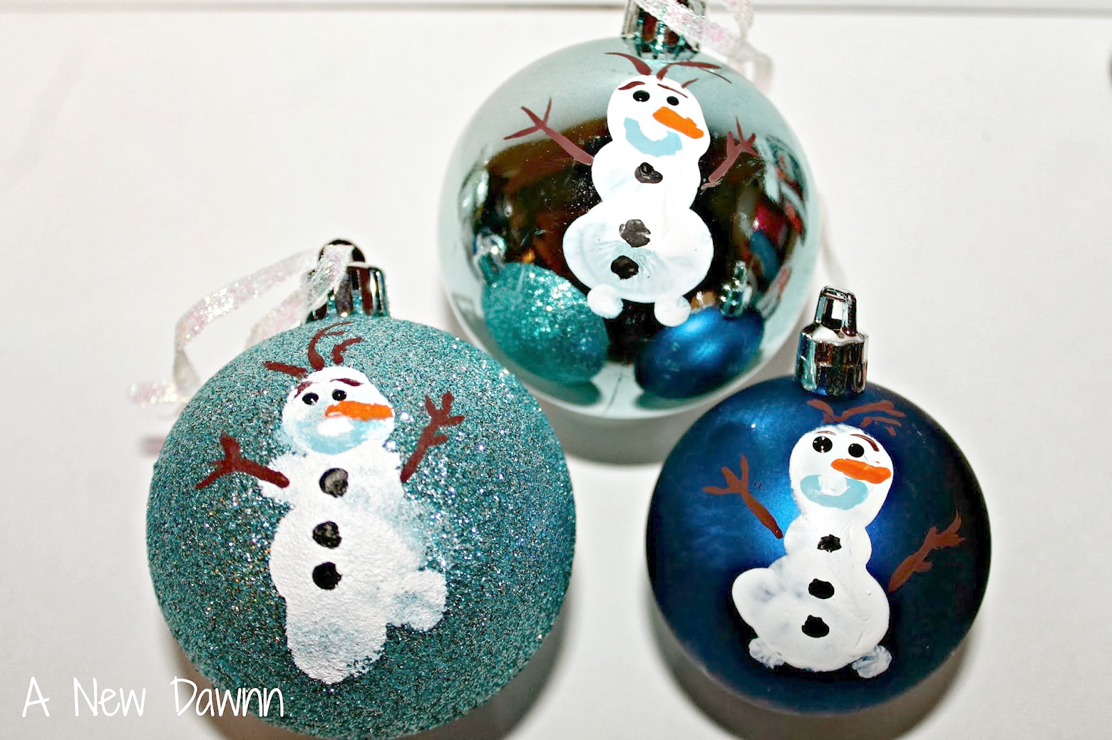 DIY Olaf Ornament