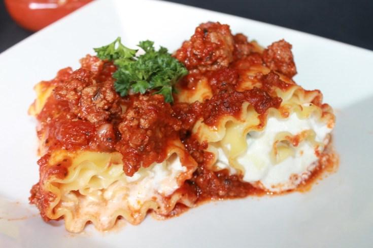 Meaty Lasagna Roll-Ups Recipe