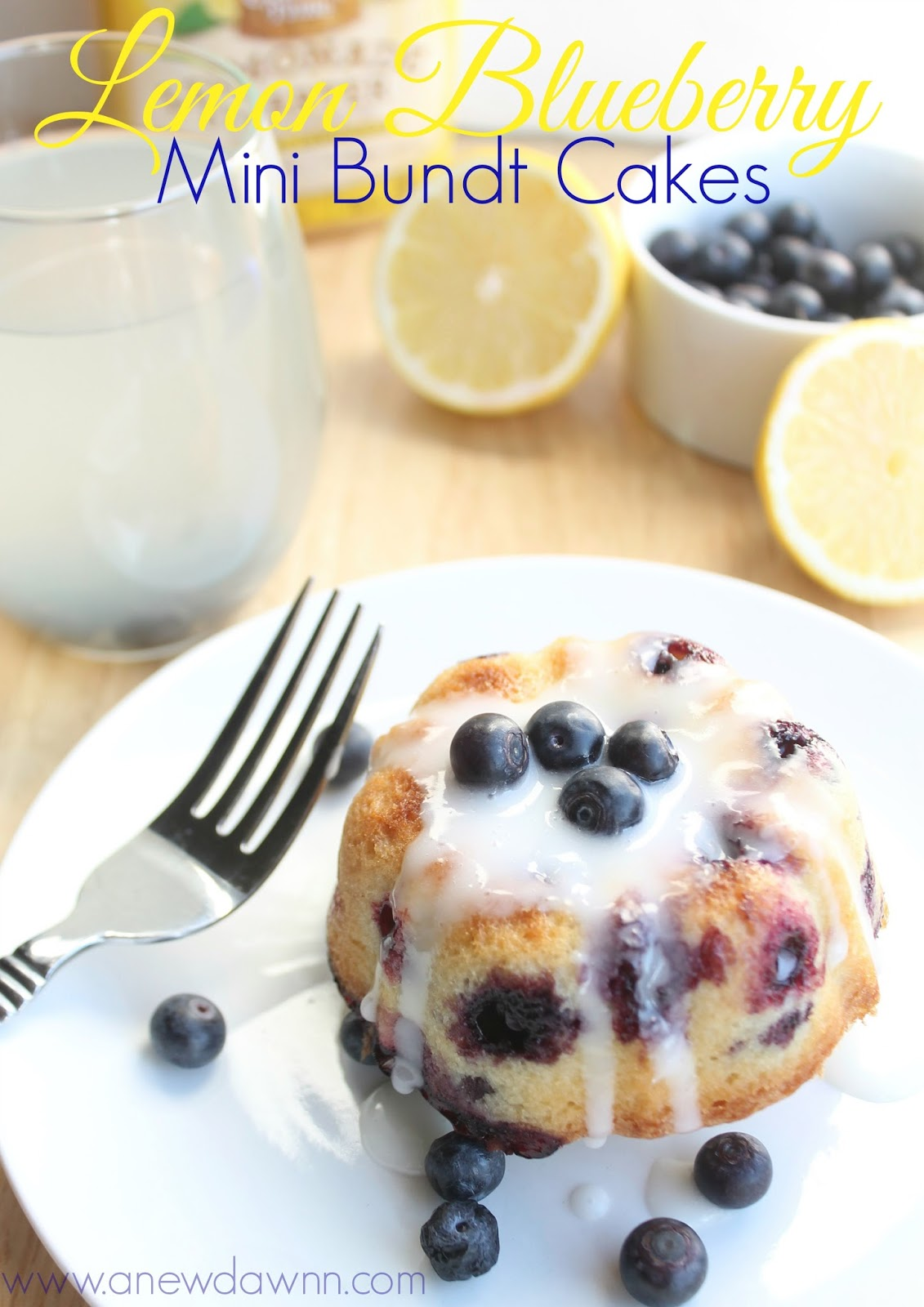 Lemon Blueberry Cakes