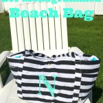 Road Trip Ready with This DIY Monogrammed Beach Tote Project