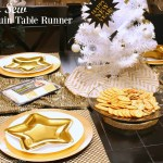 No Sew Sequin Table Runner for New Year's Eve Table Setting
