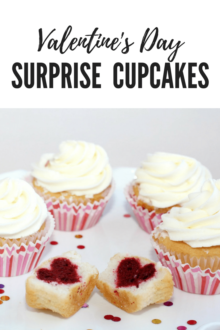 Valentine's Day Surprise Cupcakes