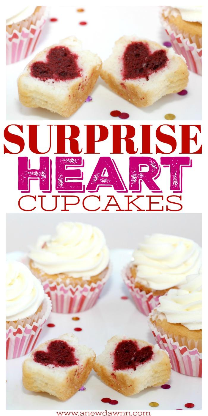 Surprise Heart Cupcakes