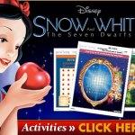Snow White & The Seven Dwarfs Printable Activity Sheets