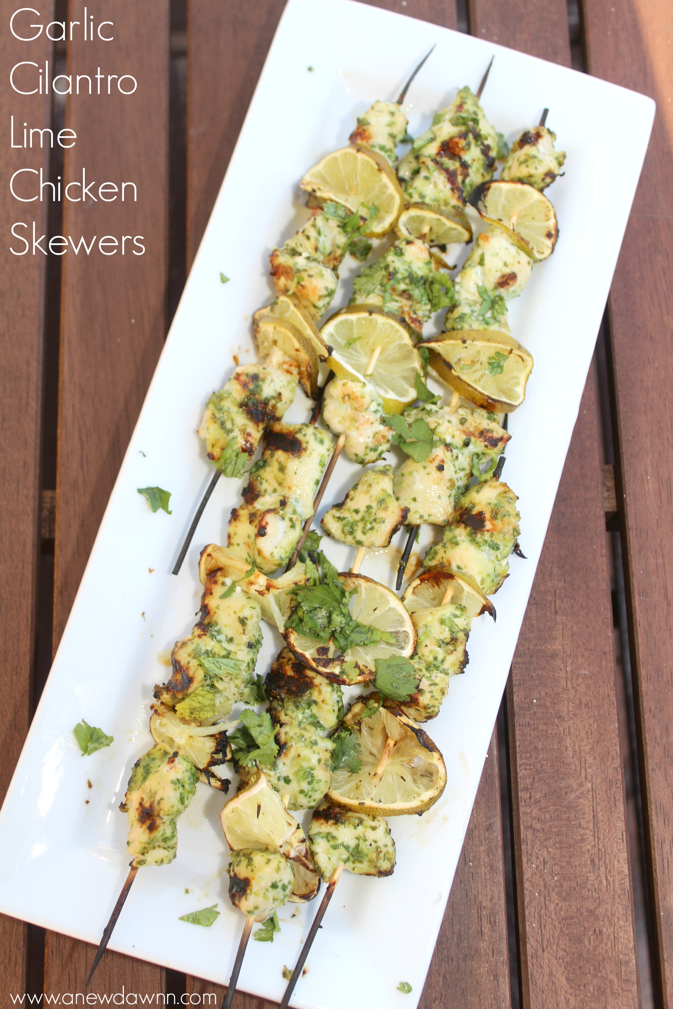 garlic-cilantro-chicken-skewers