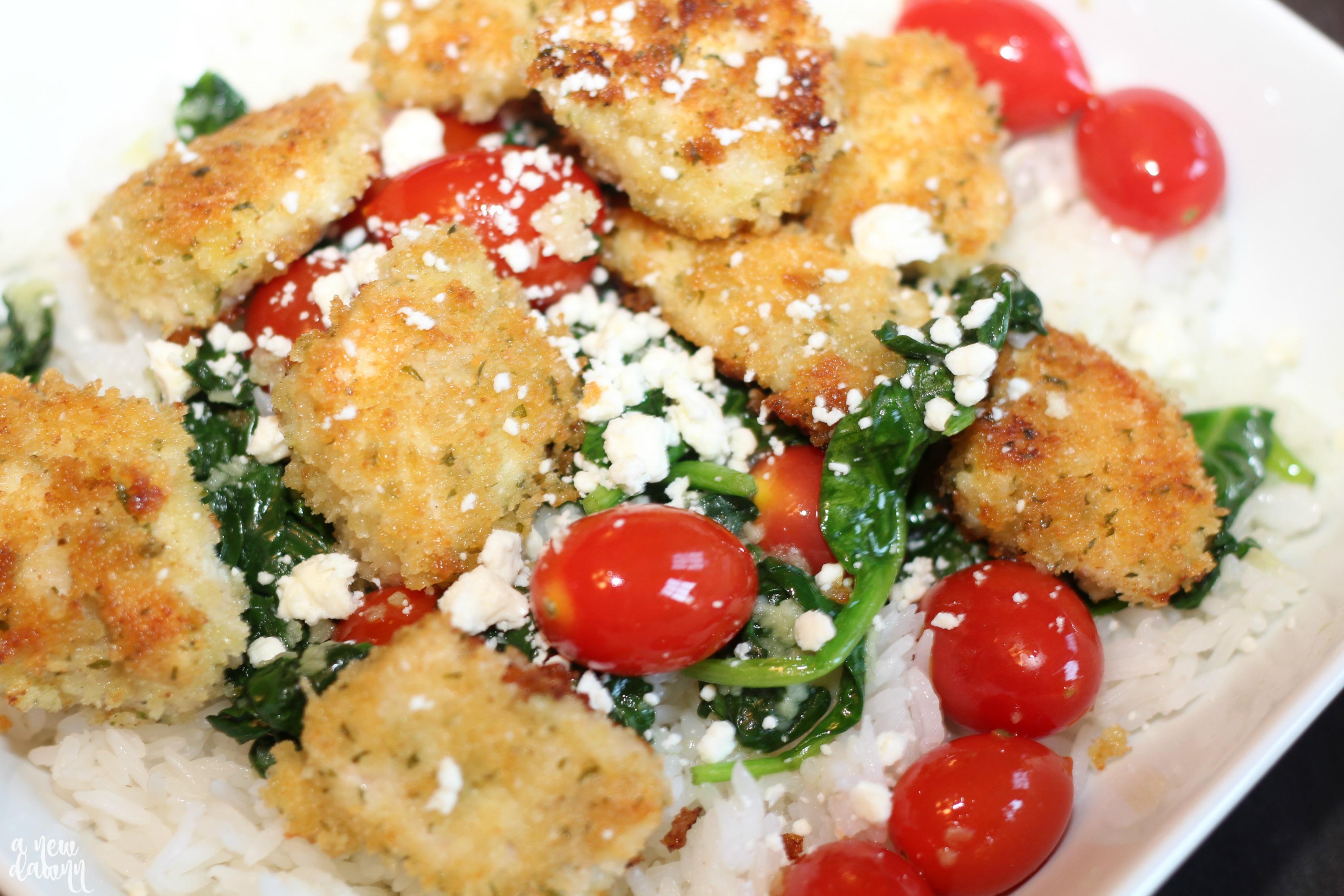 chicken-spinach-rice-bowl