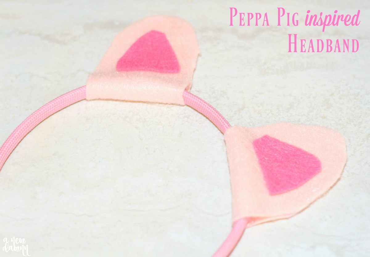 DIY Peppa Pig Inspired Headband
