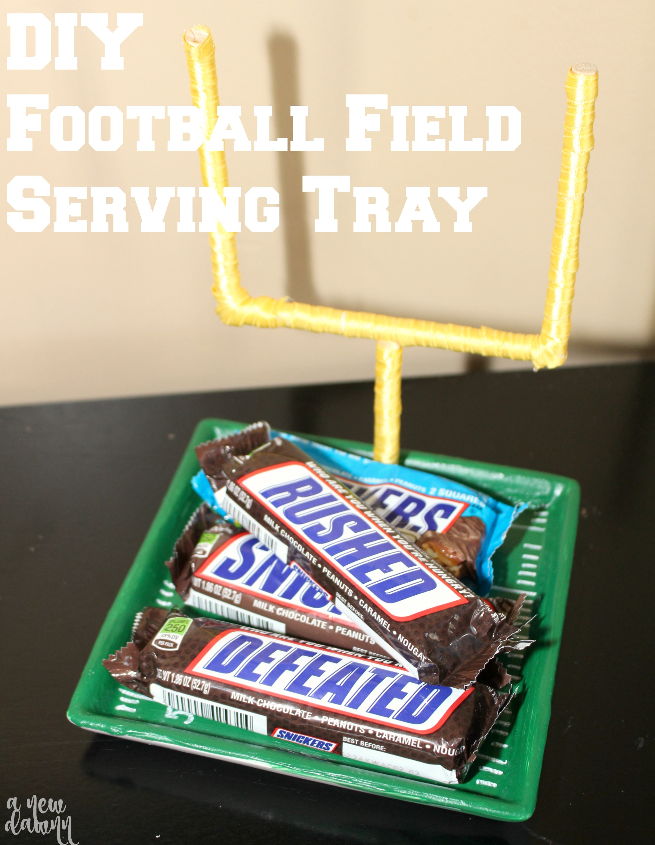 DIY Football Field Serving Tray
