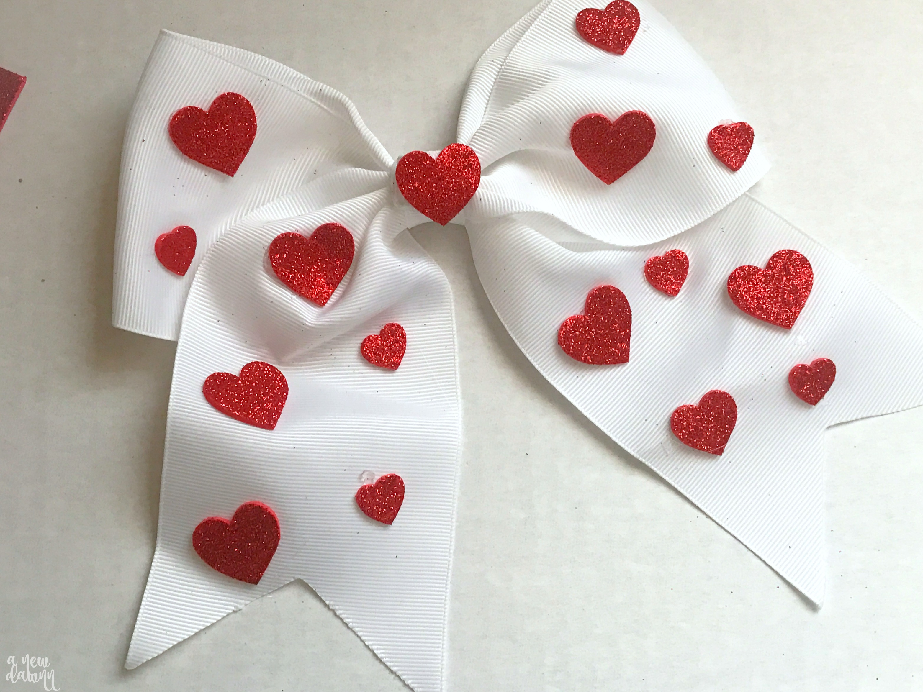 DIY Heart Hair Bow inspired by Amazon's Creative Galaxy