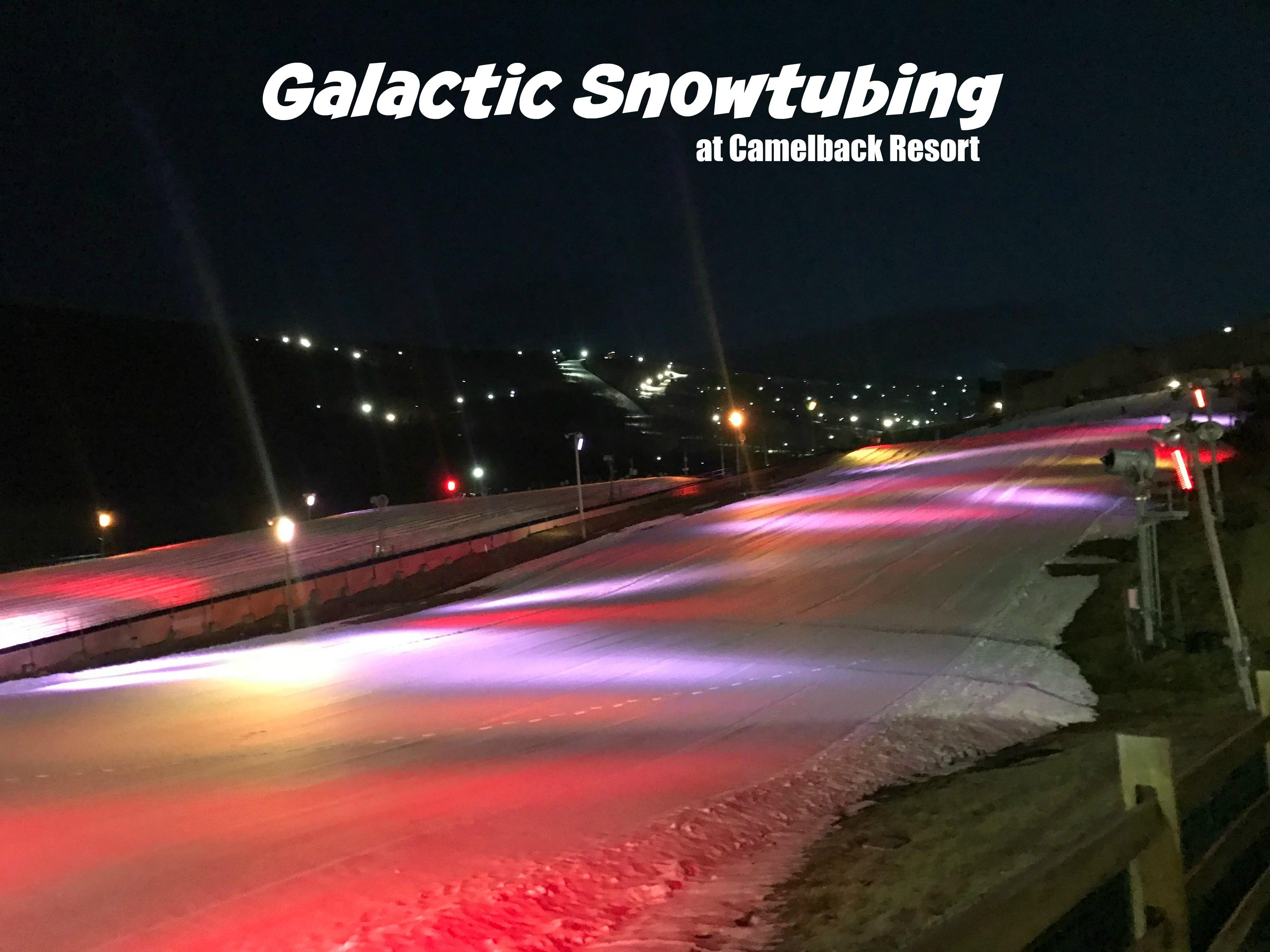 Galactic Snow Tubing at Camelback Mountain