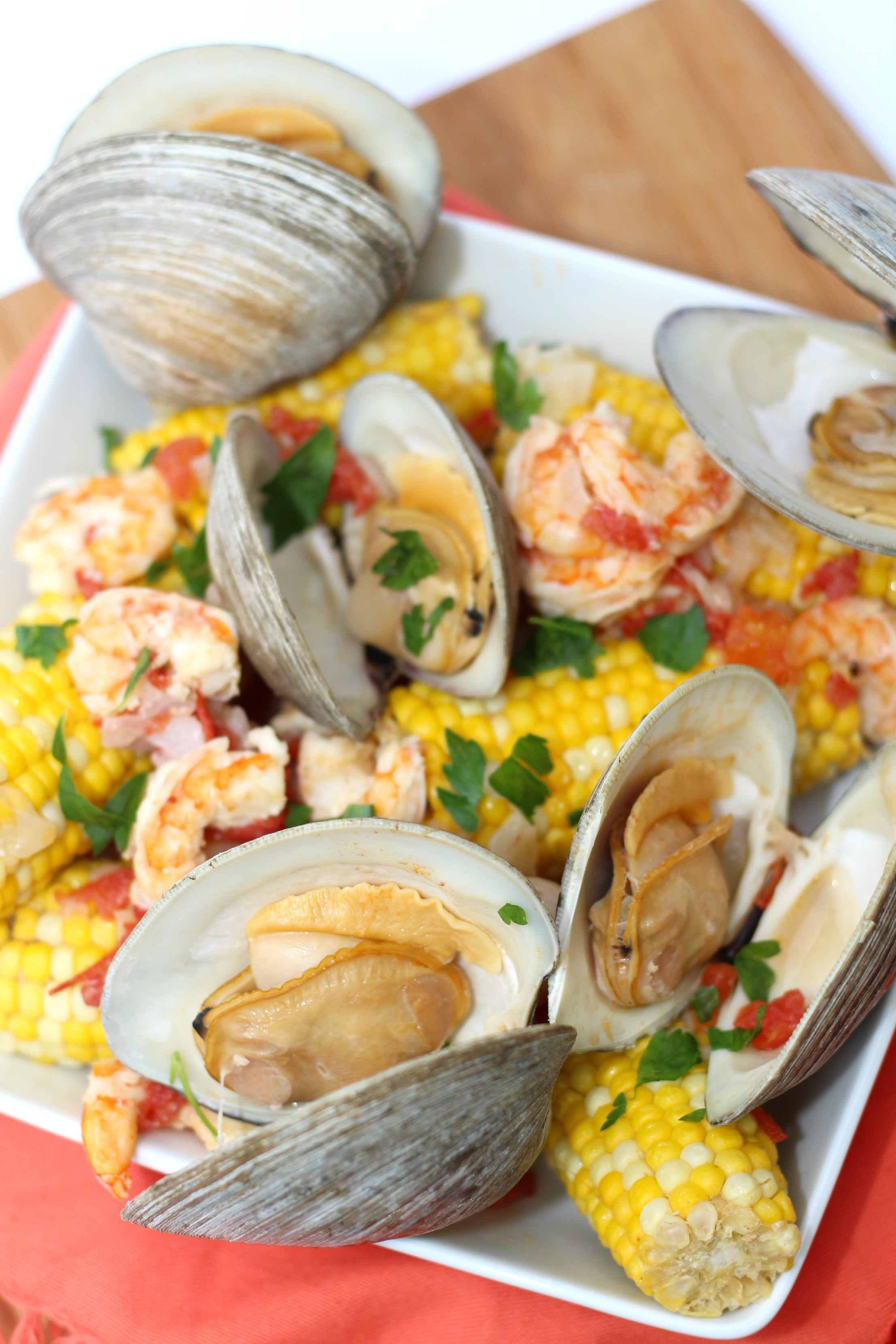 Corn and Seafood Clambake