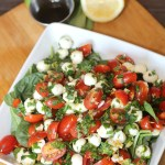 Easy Weeknight Dinner Idea – Pizza & Caprese Salad