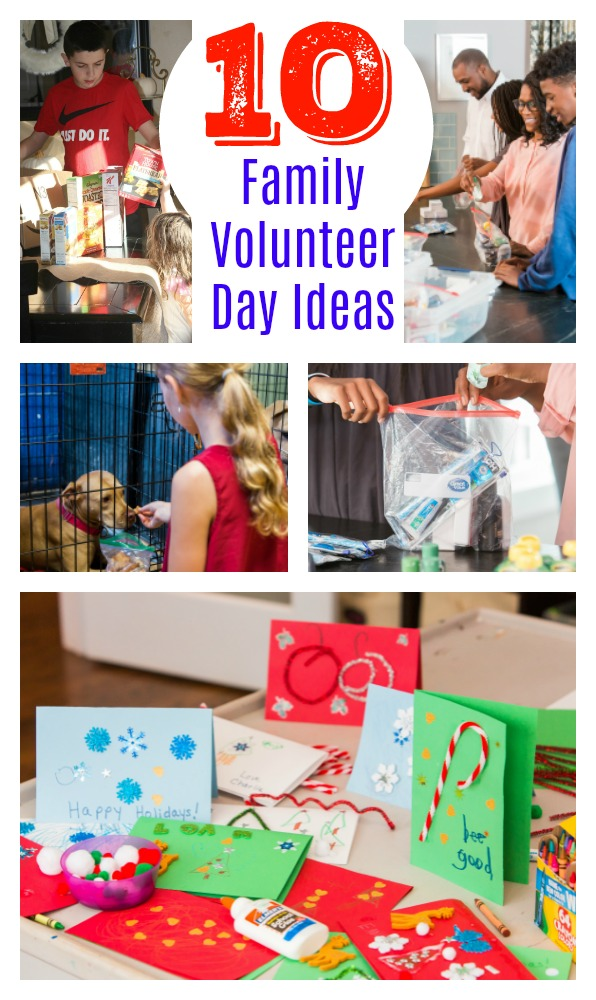 10 Family Volunteer Day Ideas