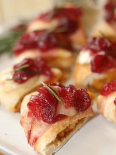 Cranberry Brie Chicken Bites