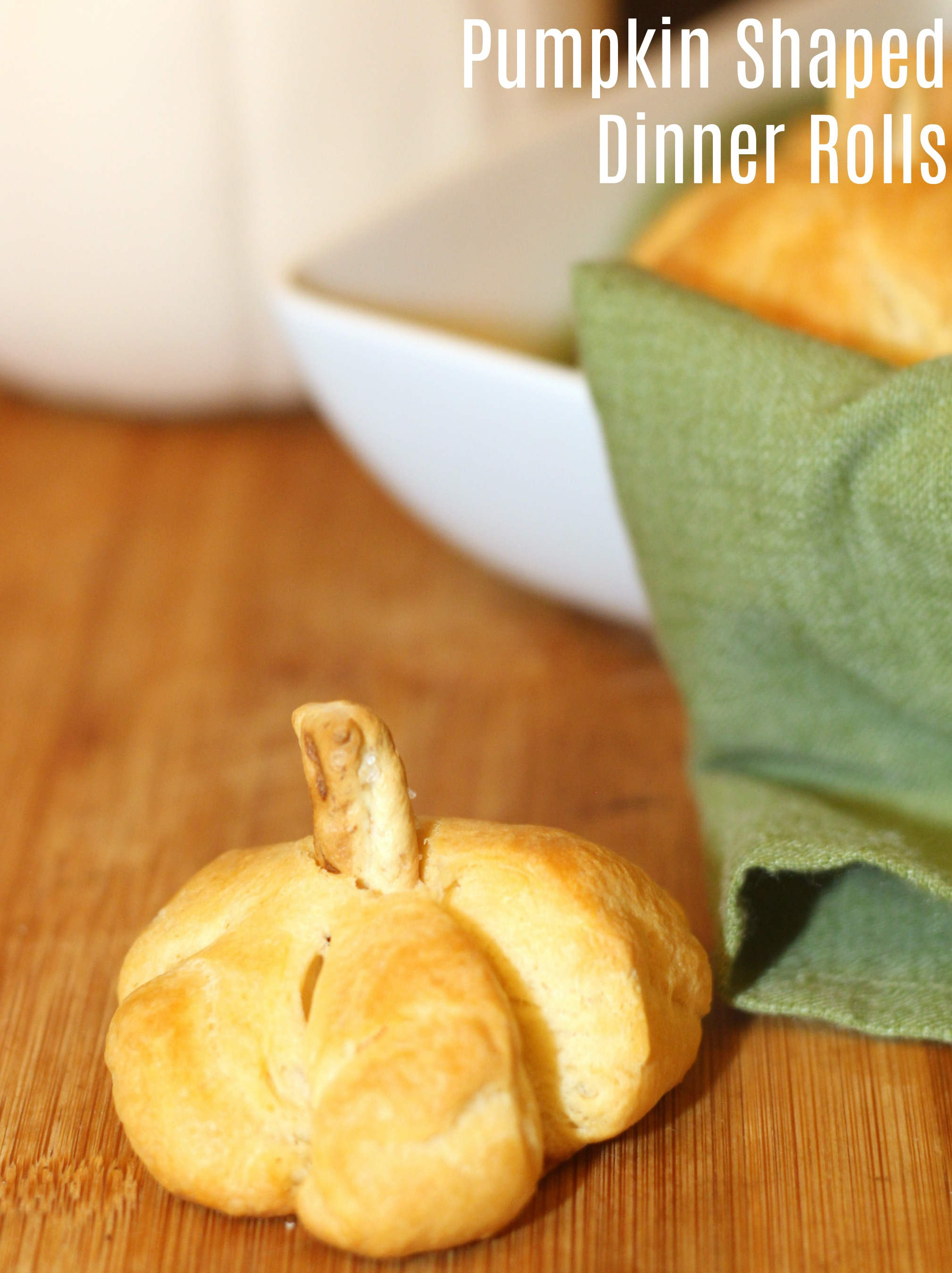 Pumpkin Shaped Dinner Rolls