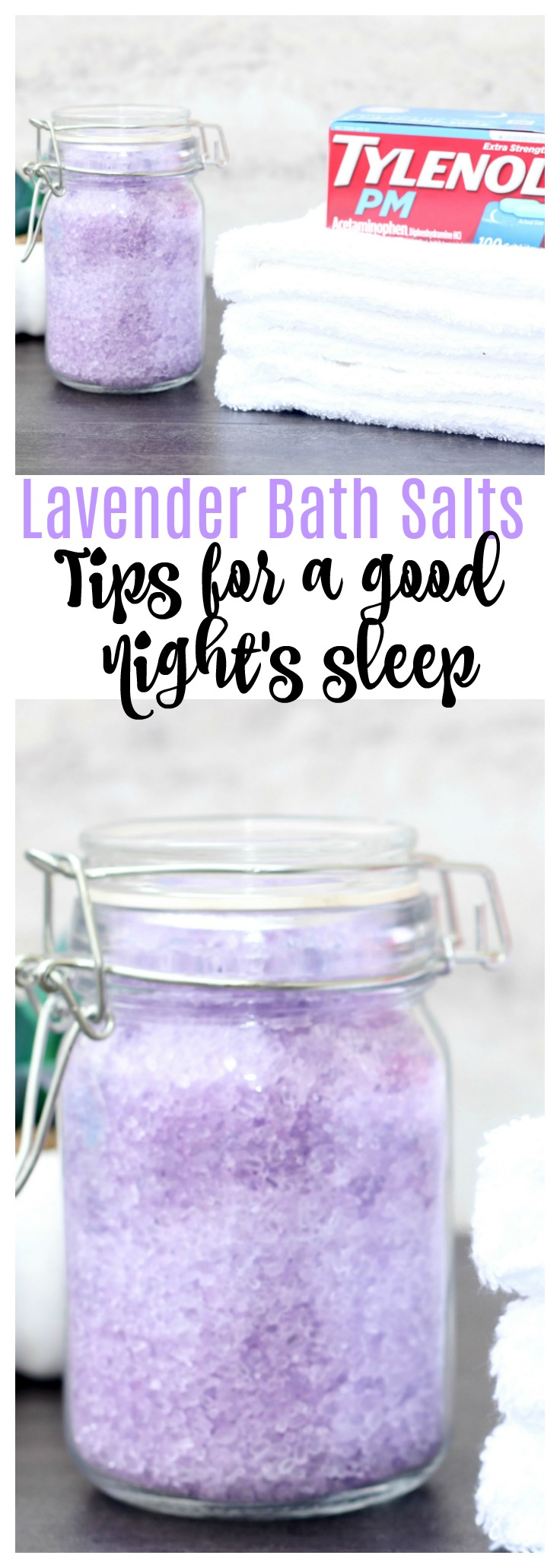 Tips for a Better Night's Sleep + DIY Lavender Bath Salts