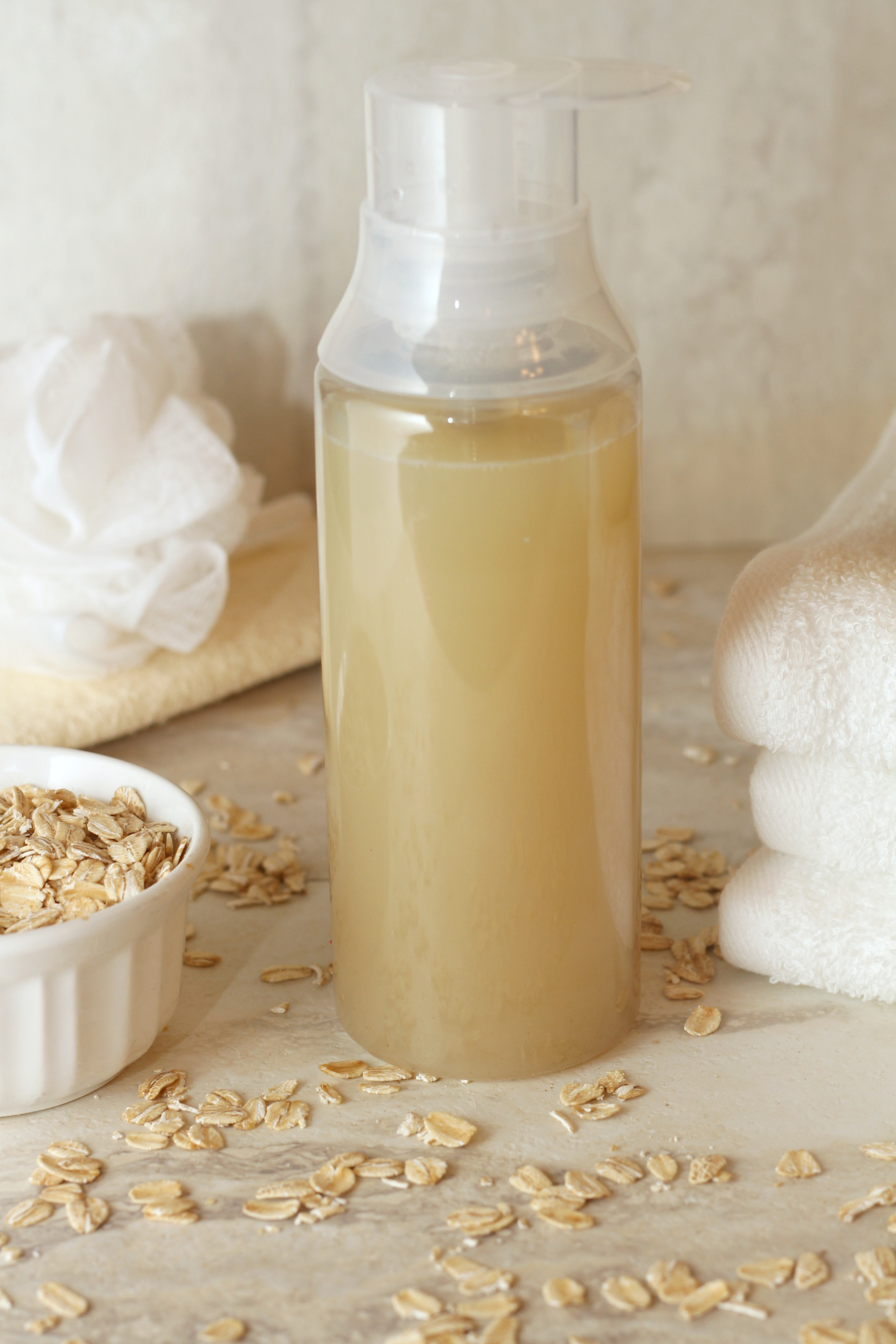 Homemade Lavender Oatmeal Body Wash