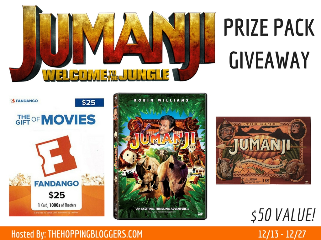 Enter the Jumanji: Welcome to the Jungle Giveaway