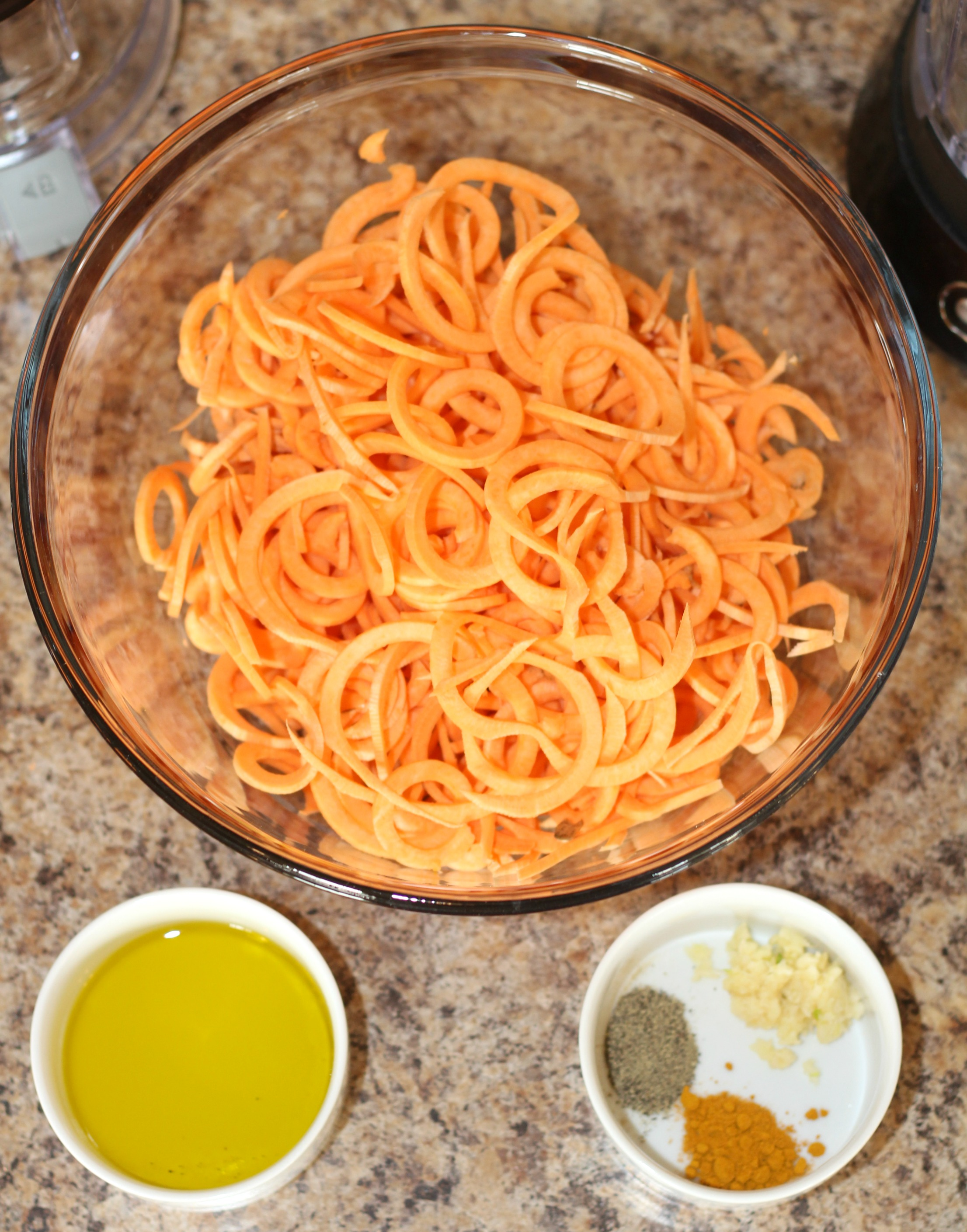 Spiralized Sweet Potato Fries