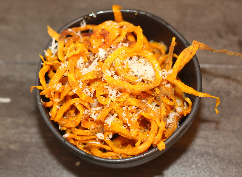 Spiralized Sweet Potato Fries