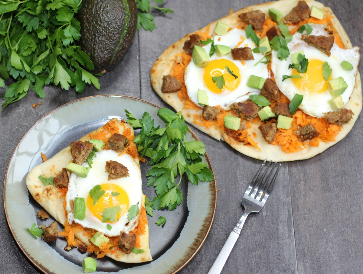 5 Simple Changes for a Healthier Me + an Avocado Egg & Sausage Flatbread Recipe