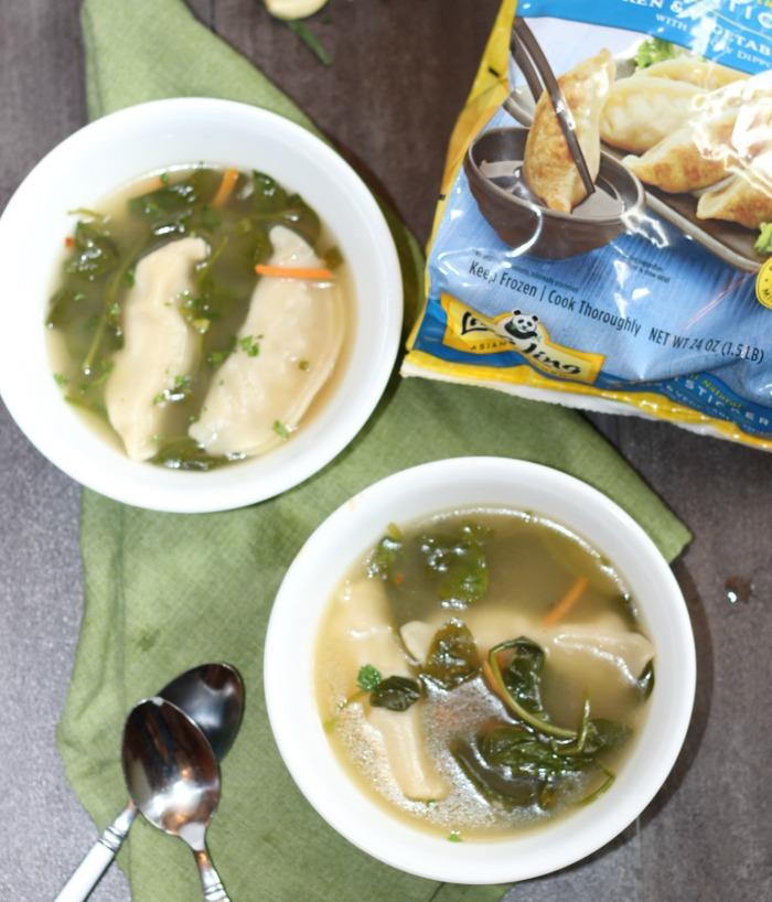 Spicy Potsticker Soup