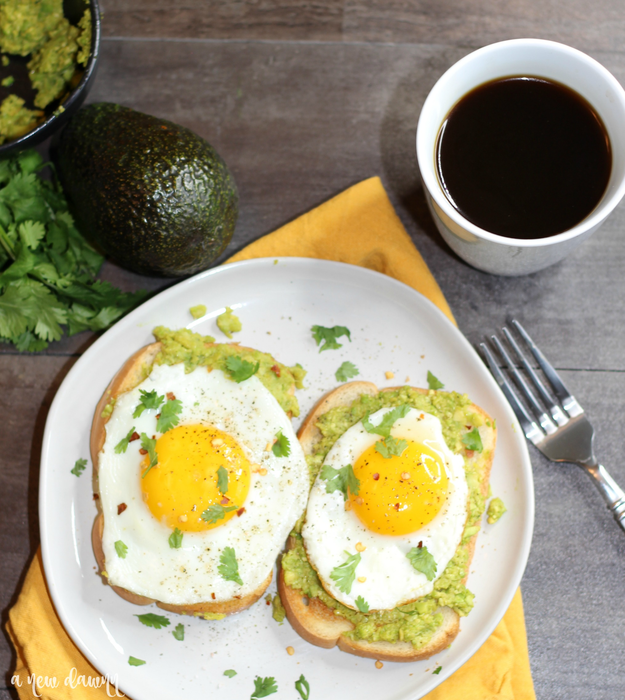5 Minute Avocado Toast with Egg Recipe
