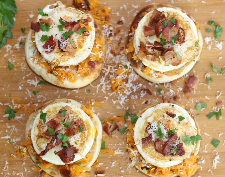 Bacon Sweet Potato Breakfast Pizza