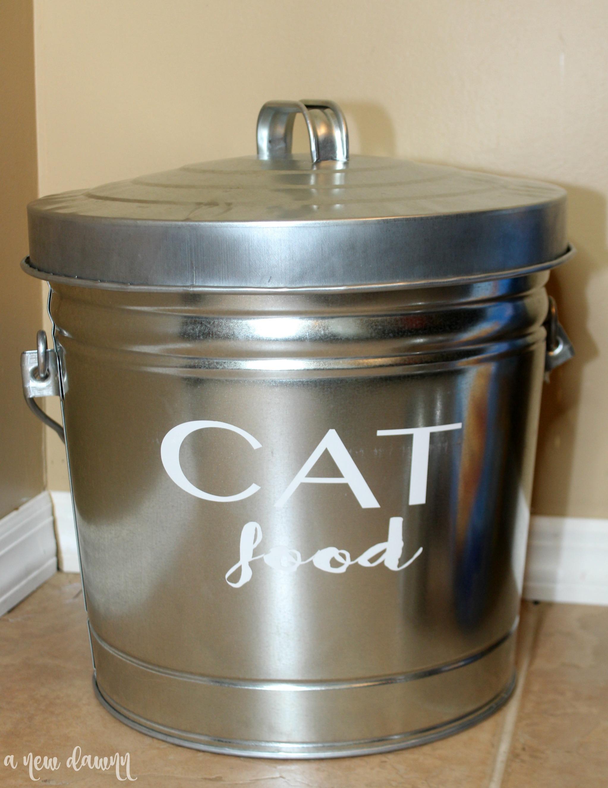 DIY Cat Food Storage Container