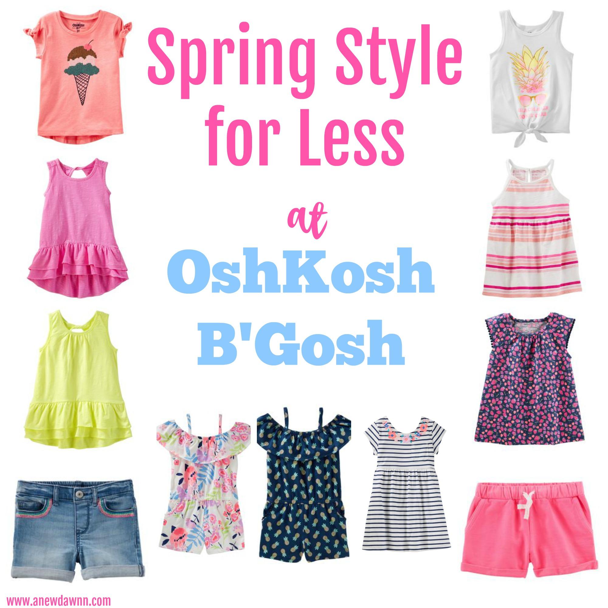 Spring Wardrobe Essentials from OshKosh B'gosh