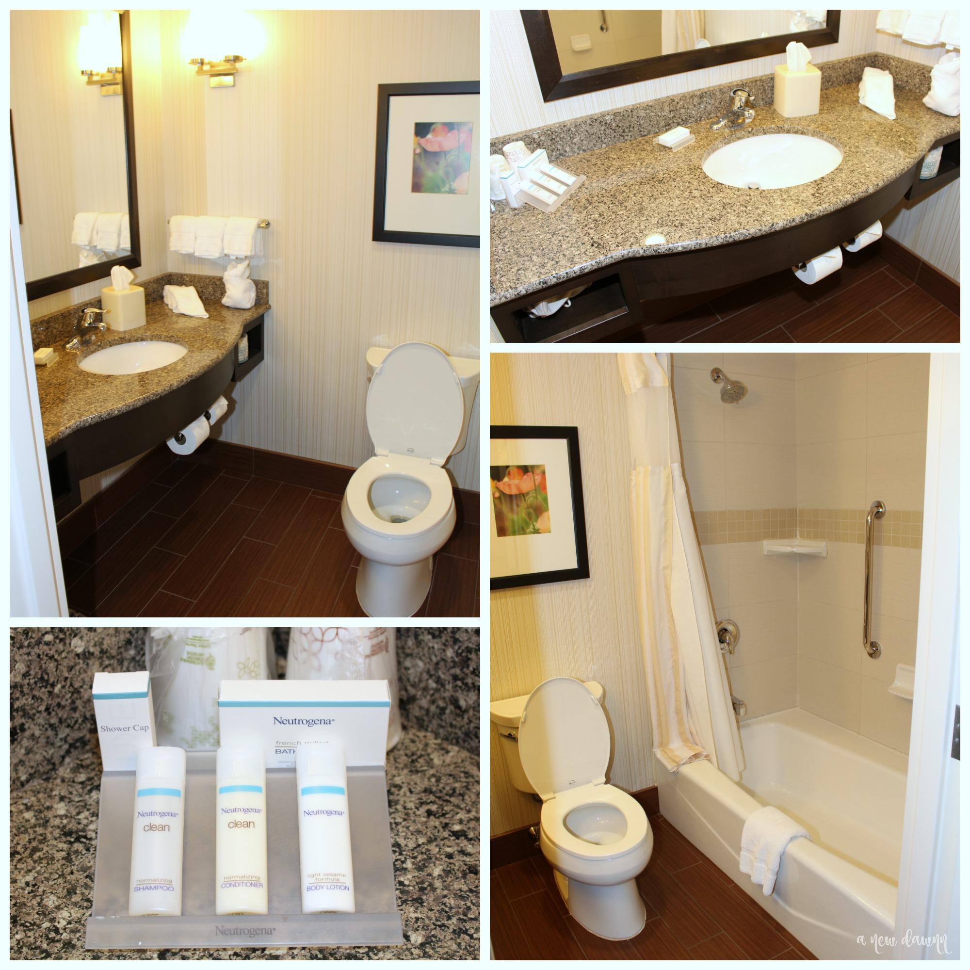 Bathrooms at the Hilton Garden Inn Hershey