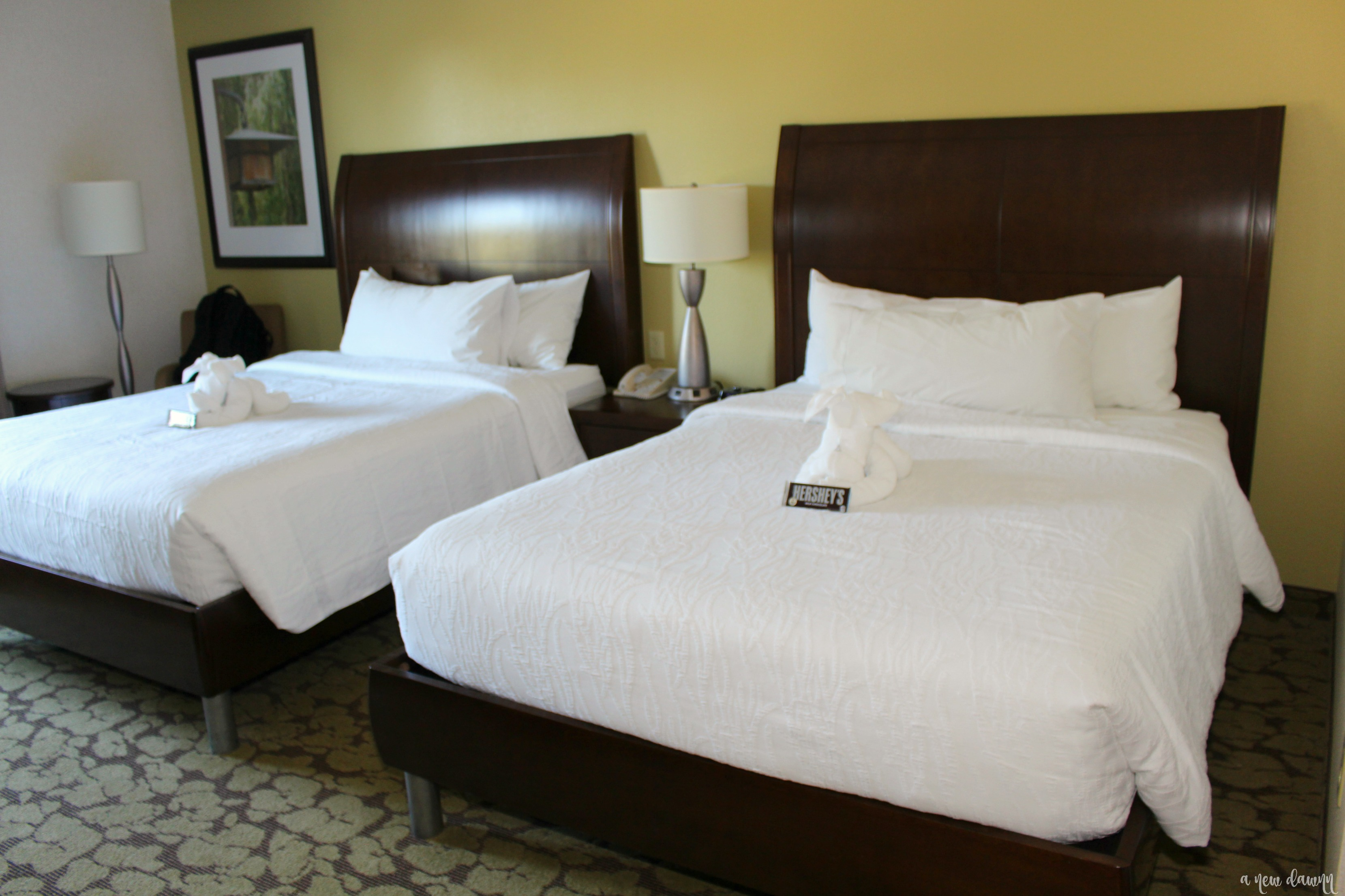 Two Queen Bed Room at the Hilton Garden Inn Hershey