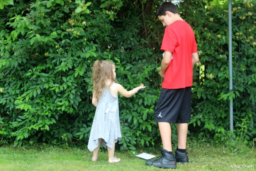 Backyard Scavenger Hunt Fun with Kinder Joy