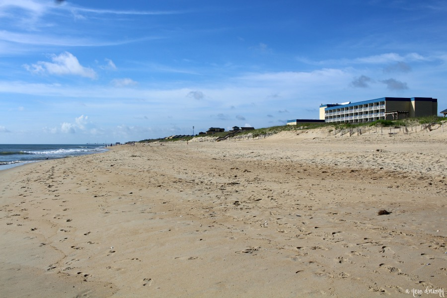 Beach in front of Holiday Inn Express Nags Head, NC